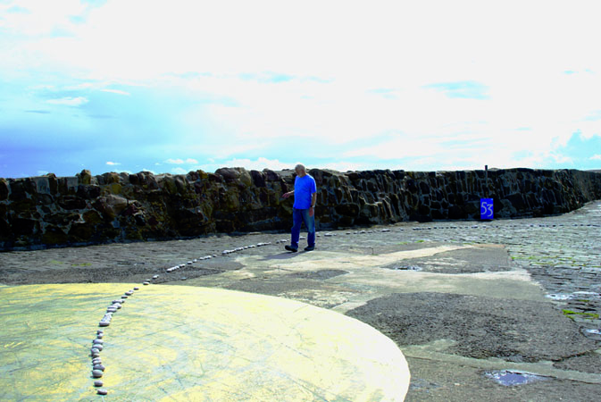 2008 – Invited artist Yoshihito Kawabata's 'Stone Circle' on the pier